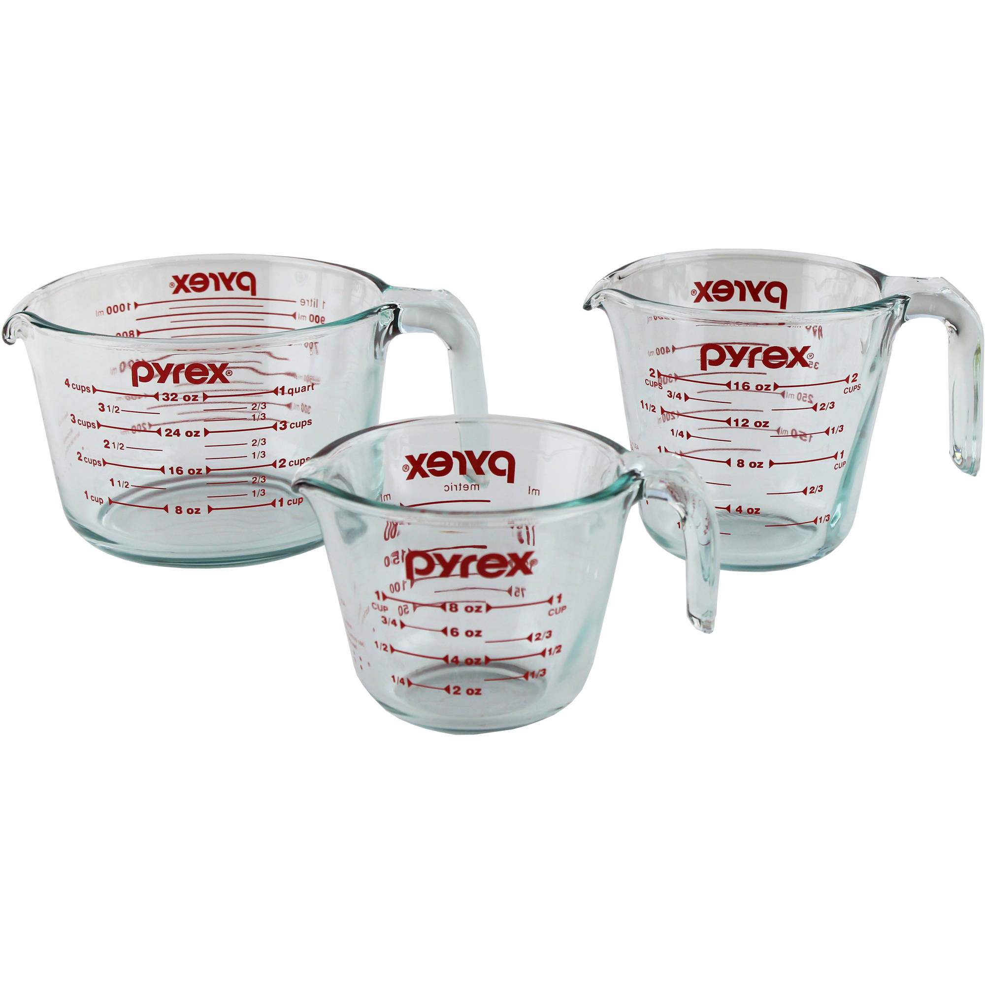 Pyrex 3-Piece Measuring-Cup Set