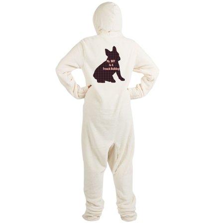 CafePress - BFF French Bulldog - Novelty Footed Pajamas - Walmart.com bd8b99fd0