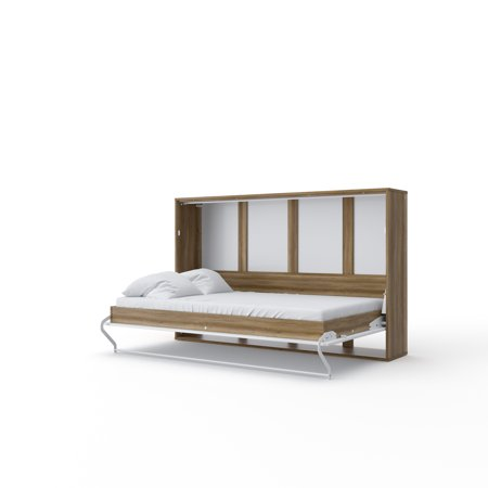 Invento Horizontal Wall Bed, Twin Size with cabinet and mattress included
