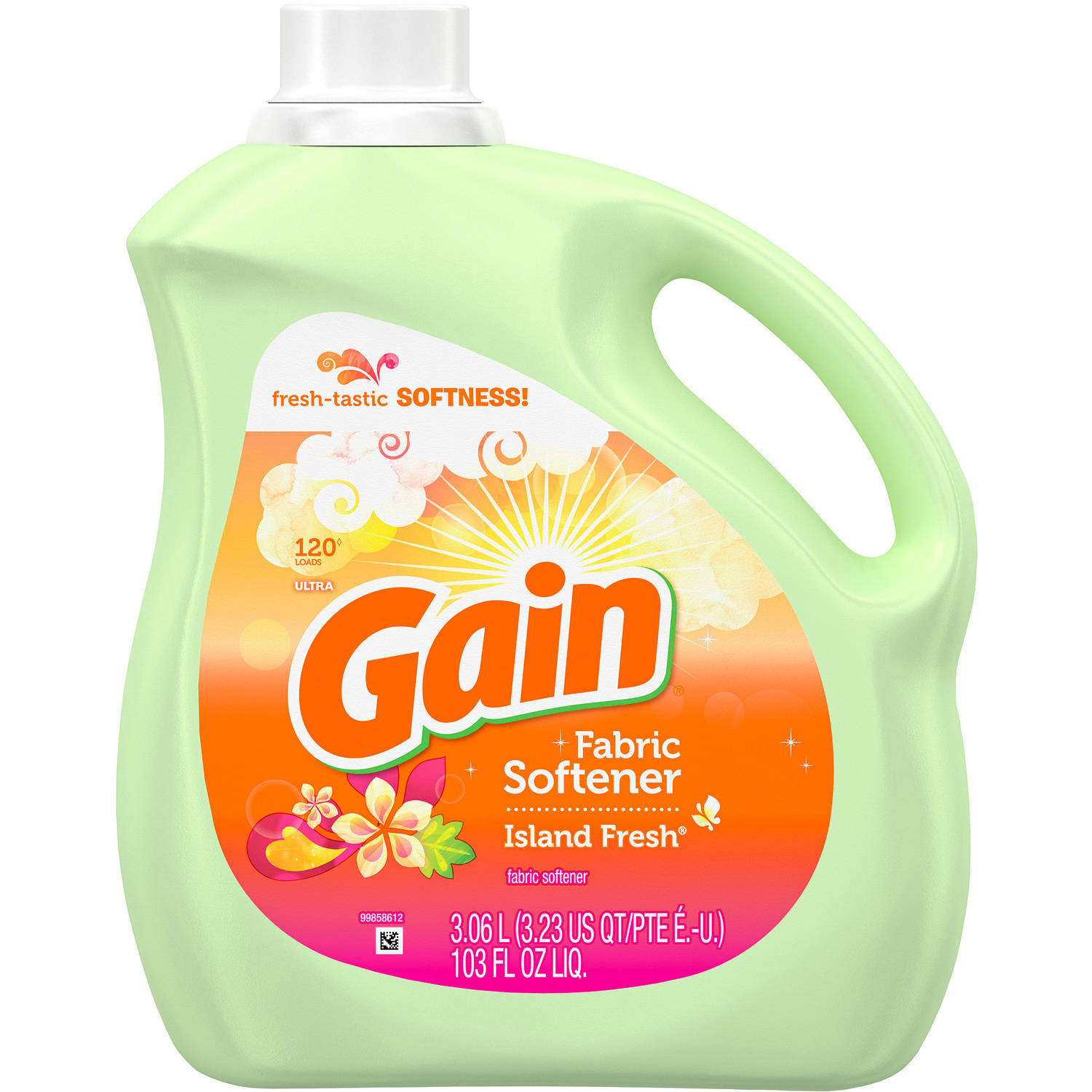 Gain Island Fresh Liquid Fabric Enhancer 120 Loads, 103 fl oz