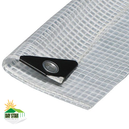 6' x 20' Clear Tarp Premium Sun Shade Clear Canopy Top