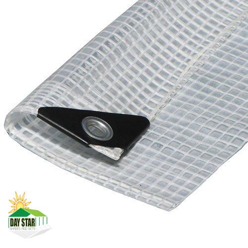 7' x 12' Clear Tarp Heavy Duty Clear Canopy Top Premium Sun Shade Tarp