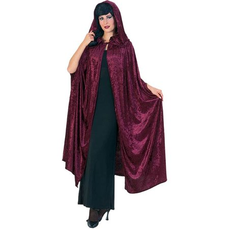 Deluxe 63 Inch Gothic Hooded Cloak - Red Hooded Cloak