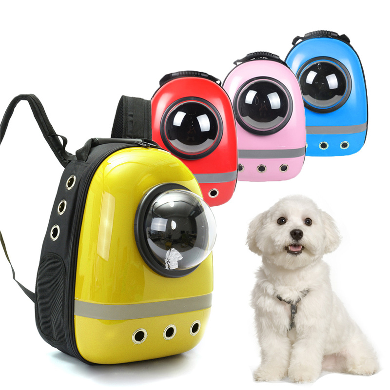 Space Astronaut Capsule Pet Dog Carrier Backpack Breathable Shoulder Bag Winter Mobile Bed for Small Dog Puppy Cat Rabbit
