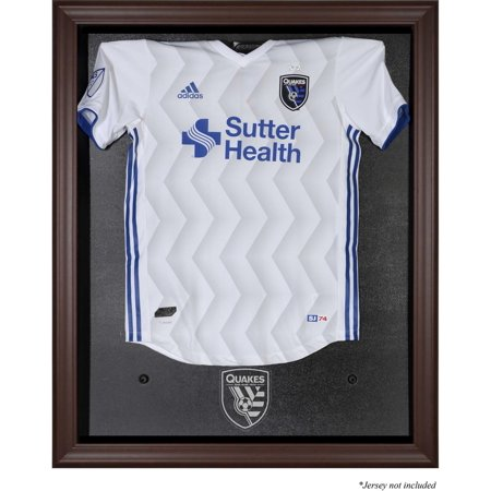 San Jose Earthquakes Brown Framed Team Logo Jersey Display Case ()