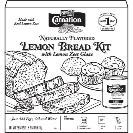 Coloring Book Just Add Water CARNATION Lemon Bread Kit With Zest Glaze 23875 Oz