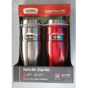 Thermos Red Stainless Steel Travel Tumbler 2 Piece Set