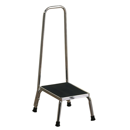 brewer medical stainless step stool w hand rail. Black Bedroom Furniture Sets. Home Design Ideas