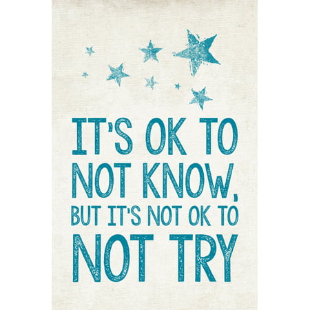It's Ok To Not Know - But It's Not Ok To Not Try, motivational classroom poster](Spanish Classroom Posters)