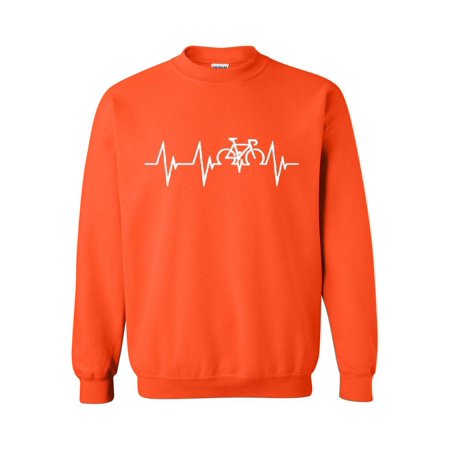 Bicycle Heartbeat Unisex Crewneck Sweater