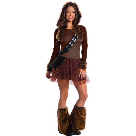 Star Wars Classic Womens Chewbacca Halloween Costume (Chewbacca Costume Rental)