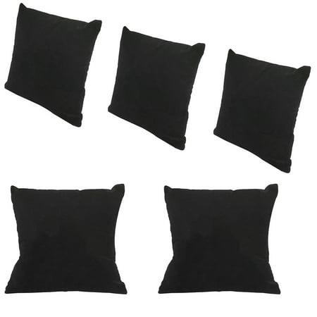 5 Pc  4'' x 4'' Black Velvet Jewelry Bracelet Watch Pillow (Bracelet Display)