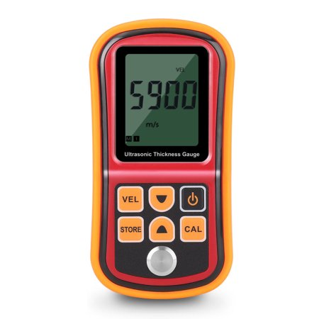 (Ultrasonic Thickness Gauge Meter Tester Tool - Digital Metal Thickness Measuring Probe Instrument for Steel Copper Aluminum Iron Plate Glass PVC Pipe & Other Hard Material, Couplant Gel Included)