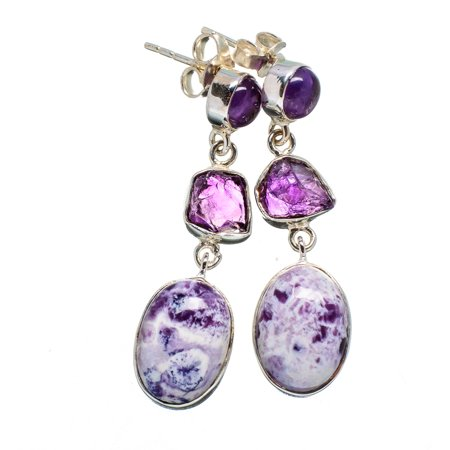 Ana Silver Co Tiffany Stone Amethyst Earrings 1 2 925 Sterling