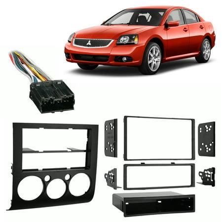 - Fits Mitsubishi Galant 04-13 w/ Auto Climate Control Harness Radio Dash Kit