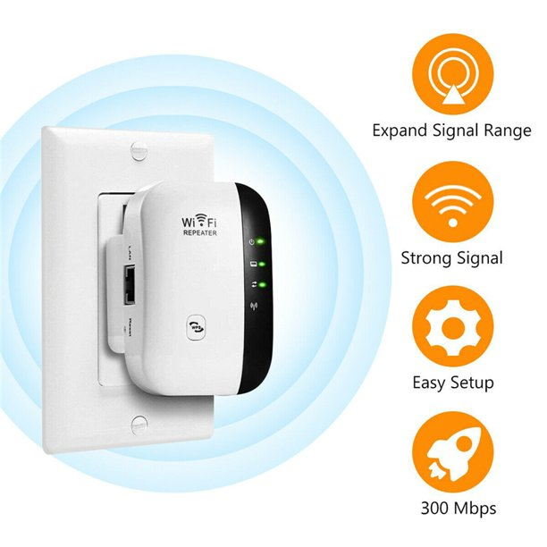 Super Boost WiFi, WiFi Range Extender | Up to 300Mbps |Repeater, WiFi  Signal Booster, Access