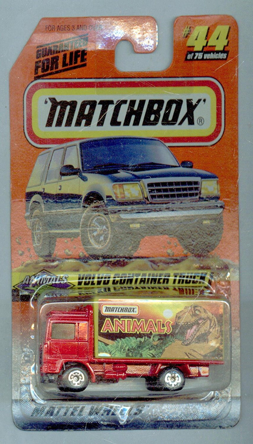 1998-44 75 Animals Series 6 Volvo Container Truck 1:64 Scale, By Matchbox from USA by