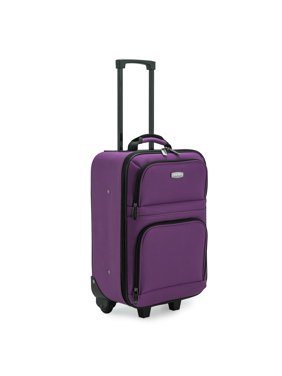 """Elite Luggage Meander 19.5"""" Carry-On Rolling Suitcase with Protective Foam Padding"""