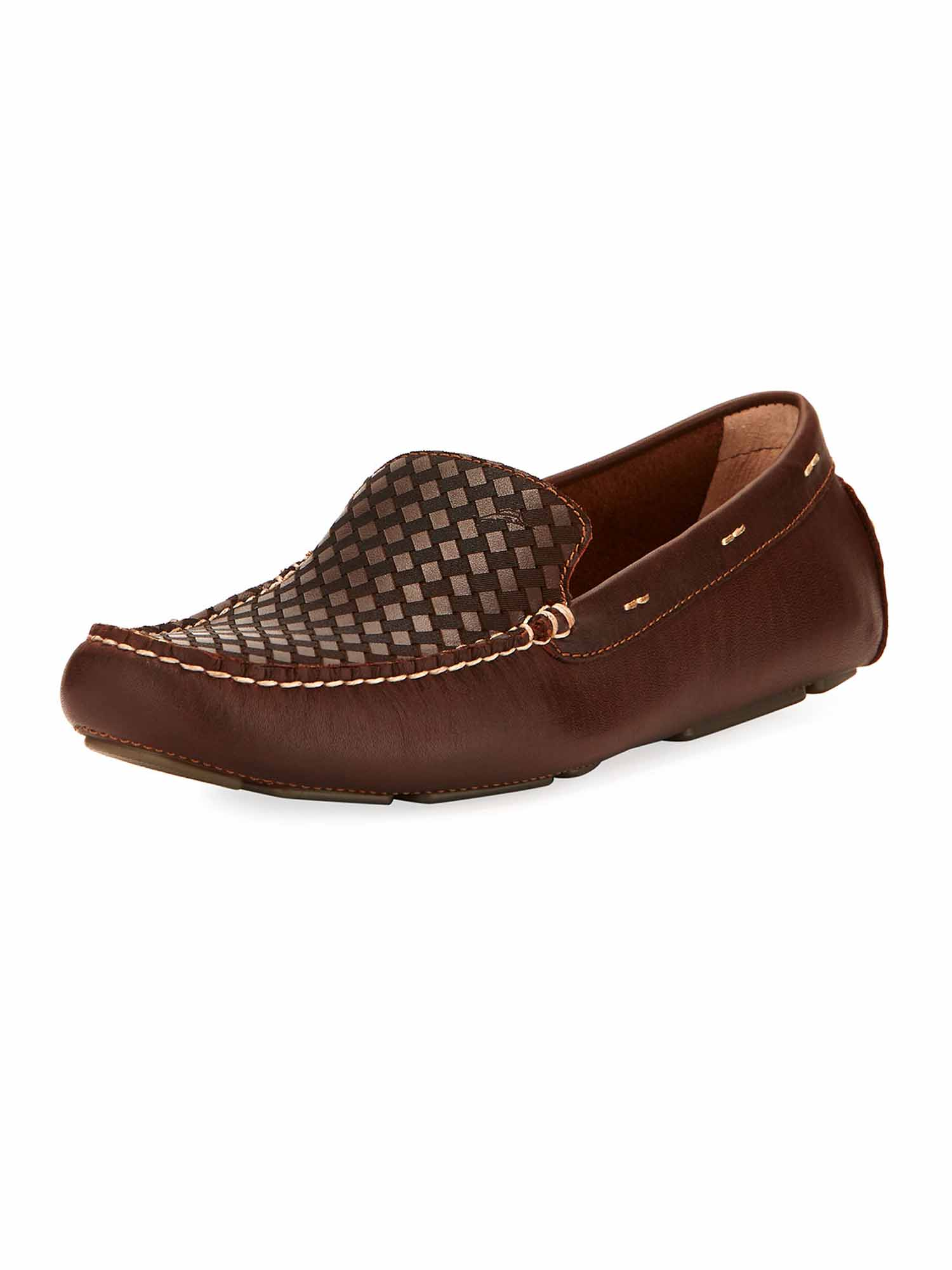 Tommy Bahama Mens Augustine Leather Slip-On Loafer (Dark Brown, 9) by