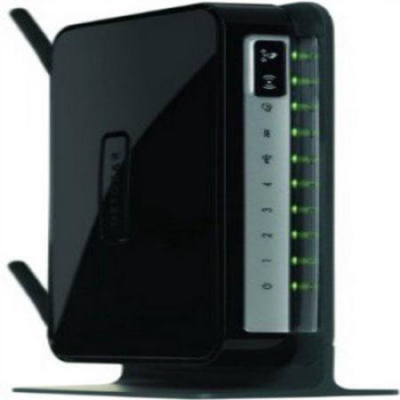 Netgear Modem Router Combo N300 Wi-Fi Wireless ADSL2+, DGN2200, Black (Refurbished) by NETGEAR