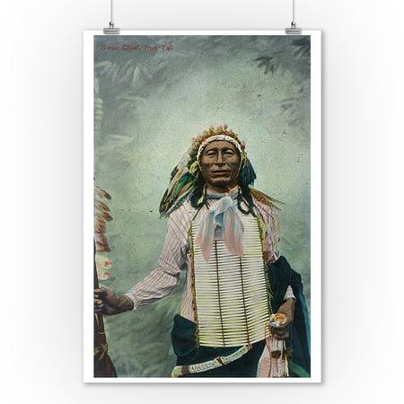 Sioux Chief Iron Tail Portrait (9x12 Art Print, Wall Decor Travel Poster)](Sioux Shop)