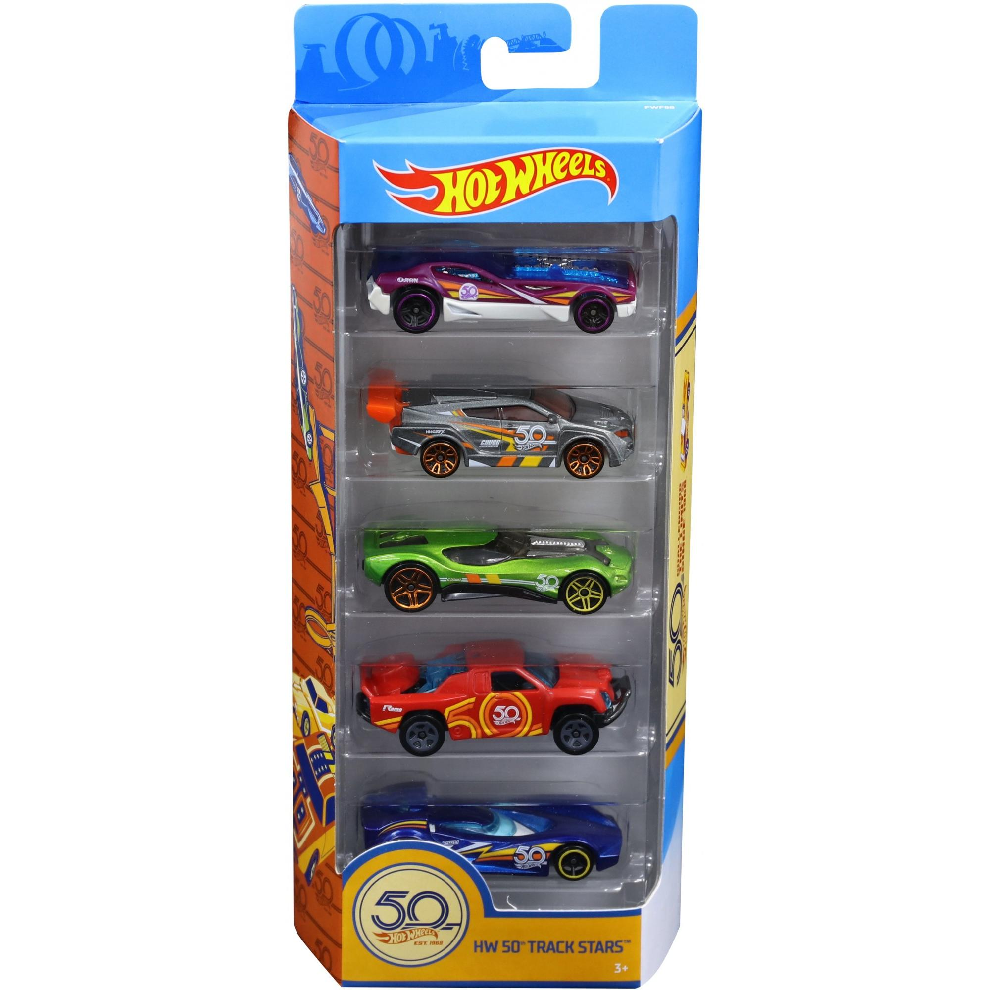 Hot Wheels 50th Anniversary Track Stars 5 Pack by Mattel