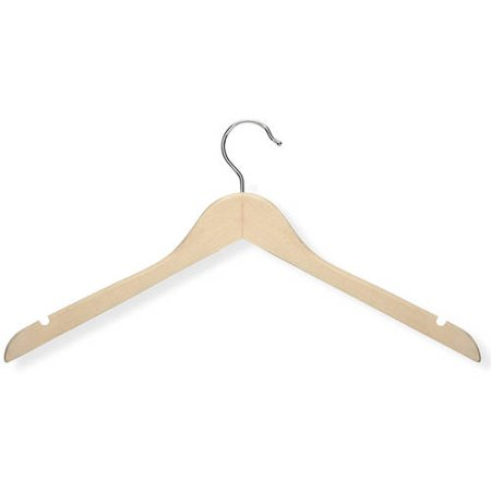 Honey Can Do 5-Pack Basic Shirt Hanger, Maple -