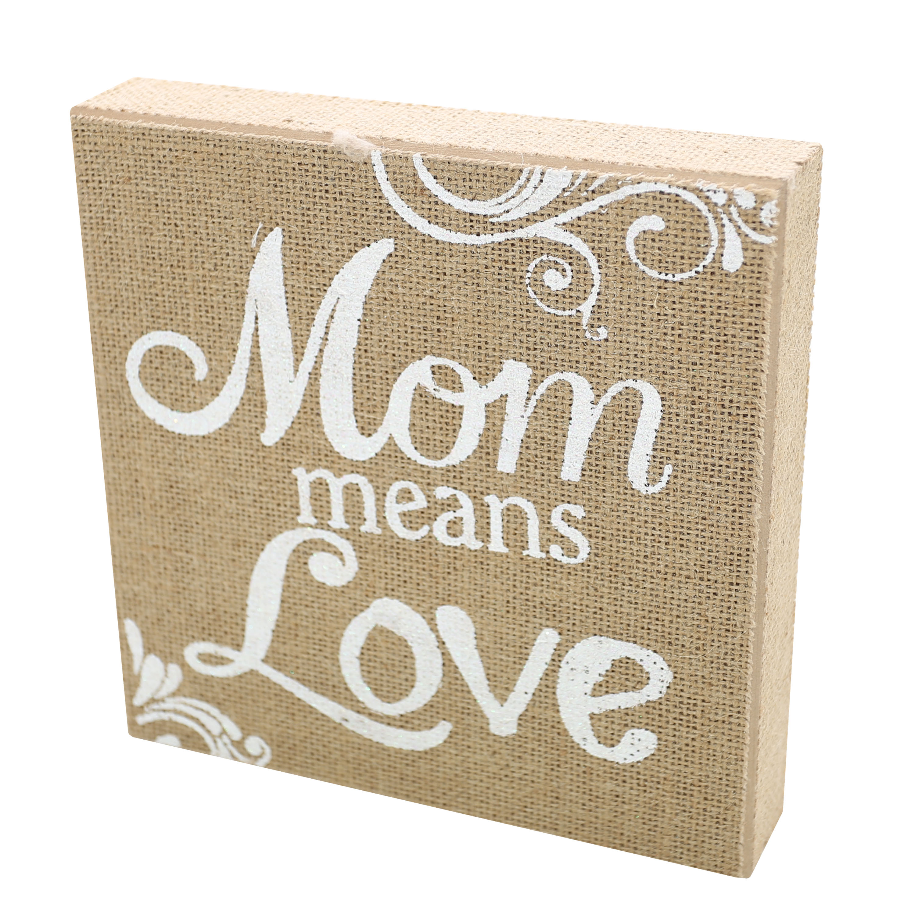 8-Inch Wood Block - Mom Means Love