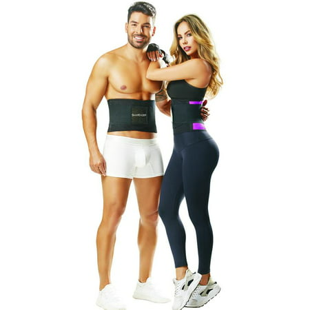 ShapEager EASY SWEAT ShapEager Belt Waist Cincher Adjustable Velcro Band Fitness Body Shaper Faja Colombiana Lifting Injury Care Girdle High Compression Back Control