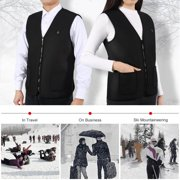 Electric Heated Vest,Yosoo Washable 5 Size USB Charging Heated Clothing for Motorcycle Snowmobile Bike Riding Hunting Golf US Size XXL(Black)