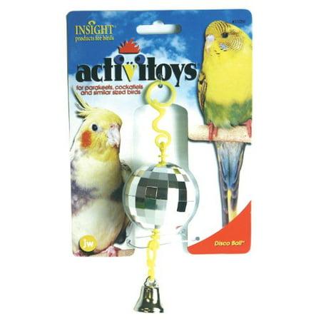 JW Pet Company Activitoy Disco Ball Small Bird Toy, Colors Vary JW Pet Company Activitoy Disco Ball Small Bird Toy, Colors Vary