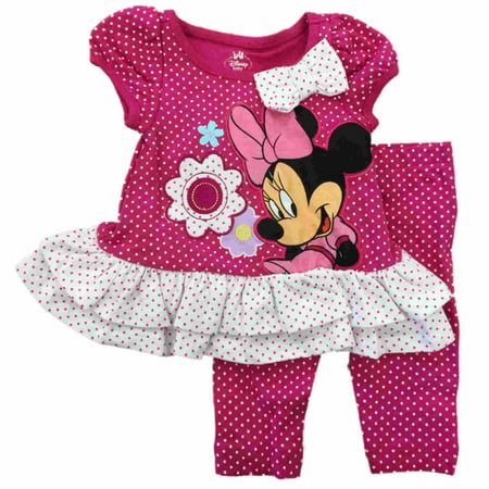Infant Toddler Girls Minnie Mouse Floral Polka Dot Daisy Legging Outfit](Minnie Mouse Toddler Outfit)