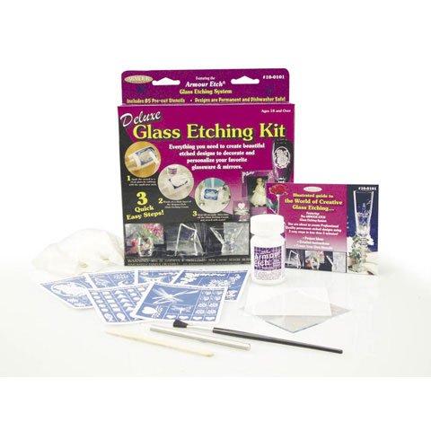 Armour Etch Deluxe Glass Etching Kit, 93 pieces