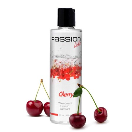 Passion Licks Cherry Water Based Flavored Lube - 8 Fl. Oz. / 236