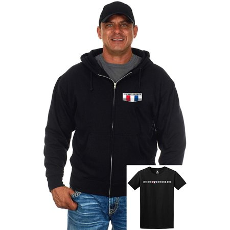 JH Design Group Men's Chevy Camaro Zip-Up Hoodie & T-Shirt Combo Gift Sets