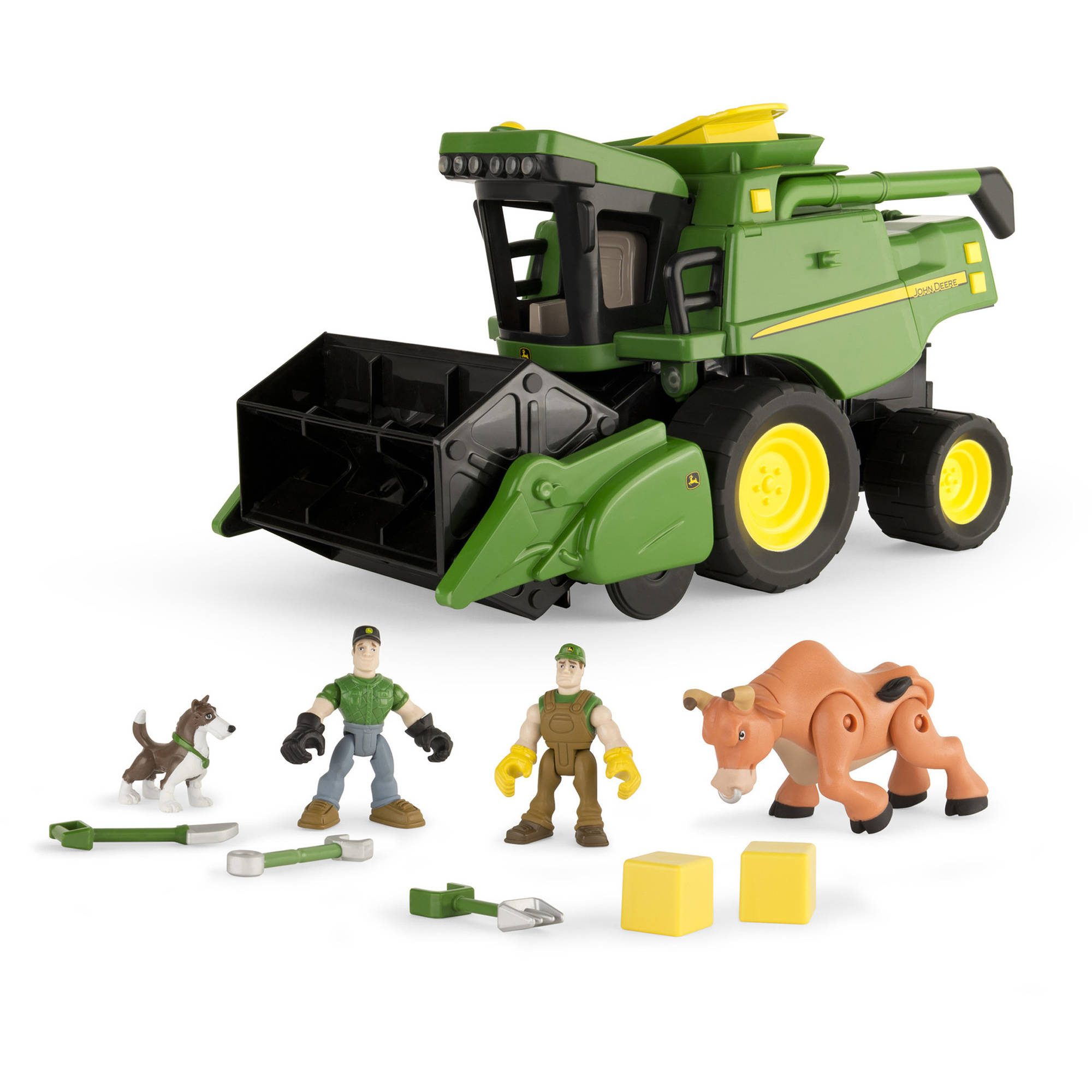 John Deere Gear Force Combine Harvester Play Set