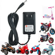 PKPOWER 6.6FT Cable 6V AC Adapter Battery Charger For Kids Hello Kitty Ride On Car Wall Barrel Plug