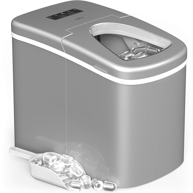 hOmeLabs Portable Countertop Ice Maker - 26 lb. Daily Capacity - Silver