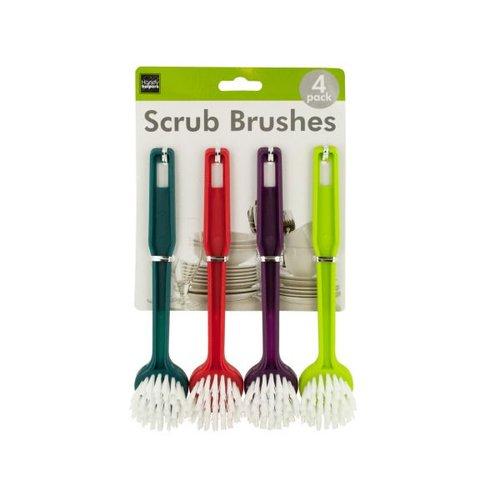 Bulk Buys Multi-Purpose Round Head Scrub Brushes, Case of 12