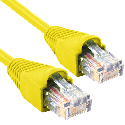 Cable Ethernet Enhanced CAT6 Network Ethernet Cable, 10', Yellow