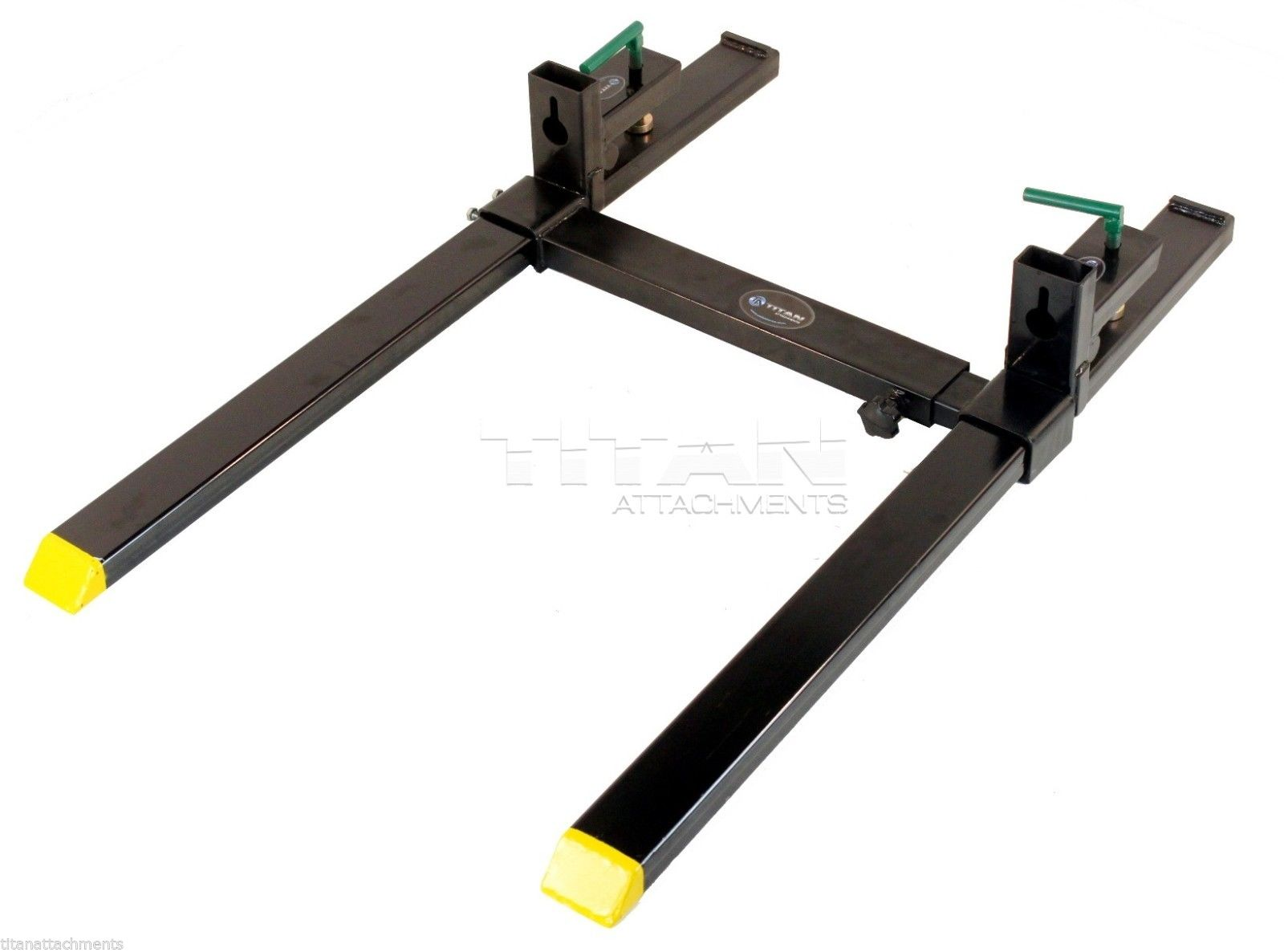 Titan Clamp On Pallet Forks Heavy Duty w  Adjustable Stabilizer Bar 4000lbs by Titan Attachments