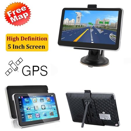Car GPS Navigator, 5-inch HD Touch Screen& 8G Memory, Voice