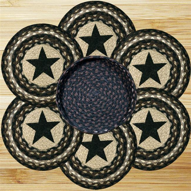Earth Rugs Star Trivets in a Basket