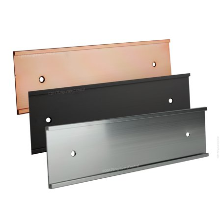 Office Wall or Door Mount - Gold - Name Plate Holder - Fits Standard Size 2x8 NamePlates (Not included)