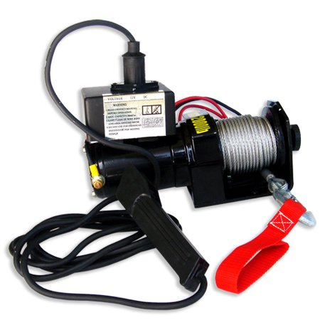 Electric Winch 2000 Pound 12 Volt Four Atv 4 Wheeler Boat Trailer W Remote 1 Ton