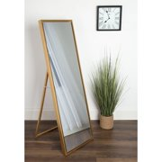 Kate and Laurel Evans Wood Framed Free Standing Floor Mirror - 8W x 58H in.
