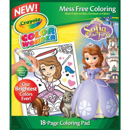 Crayola Color Wonder Sofia The First Coloring Pad 10\