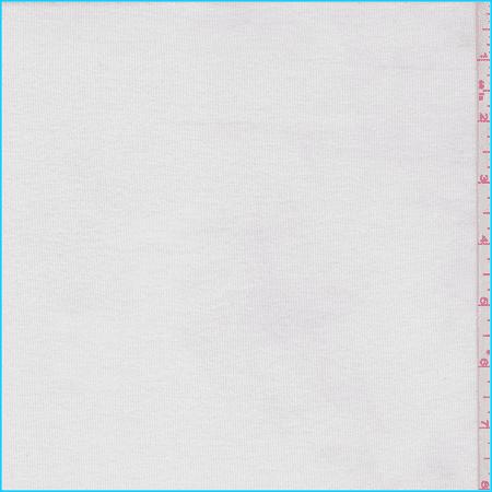(White Rib Jersey Knit, Fabric By the Yard)