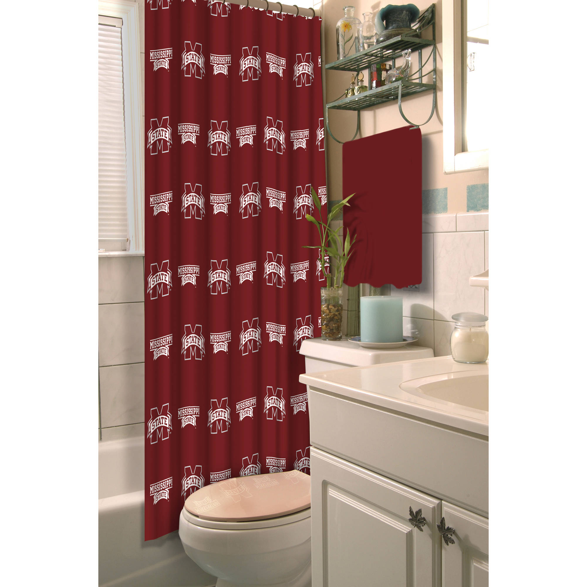"NCAA Mississippi State Bulldogs 72""x72"" Shower Curtain"