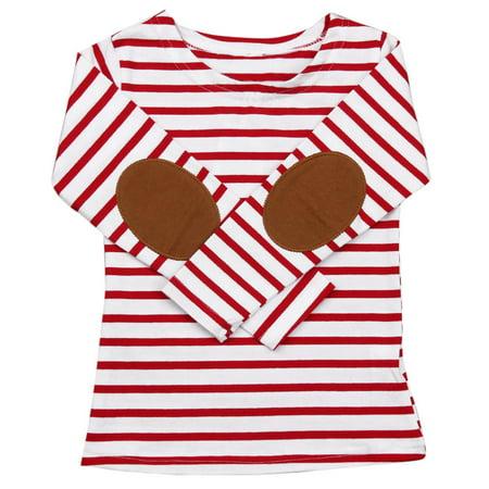 DZT1968 Toddler Infant Kids Baby Boys Girls Stripe Long Sleeve Tops T-Shirt Blouses